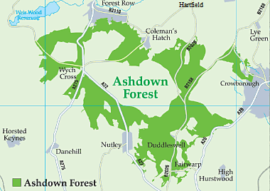 Map of Ashdown Forest